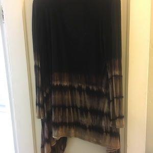 Black ombré sweater/cardigan